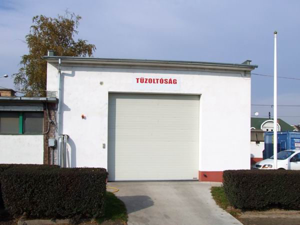 Dunapack Zrt tűzoltóság ipari kapu
