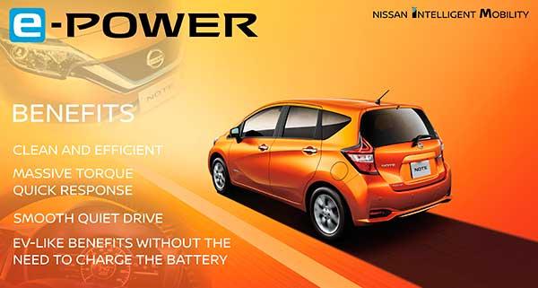 A Nissan modern villanymotor hajtásrendszere az e-Power