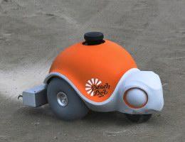 Beachbot a homokba rajzoló robot