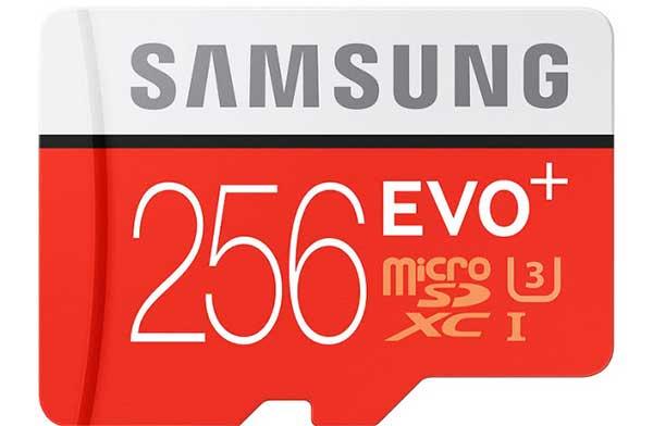Samsung 256 GB EVO Plus microSD-kártya