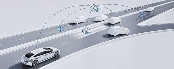 Érzékelés a Bosch-felhő révén az automatizált járművekben