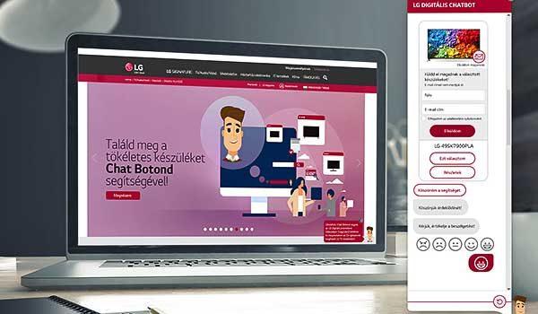 Magyar fejlesztésű chatbot adja el az LG tévéit