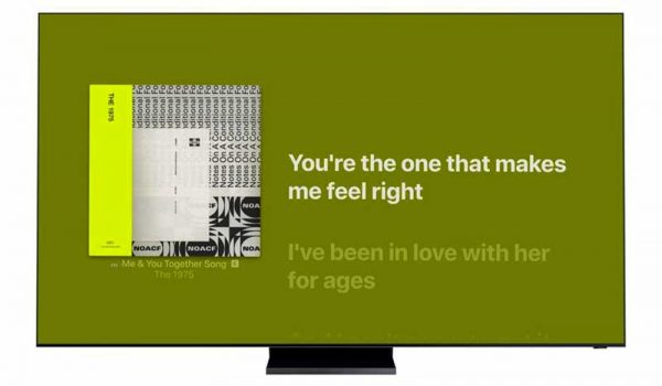 Dalszövegek a Samsung Smart tévéin az Apple Music alkalmazással