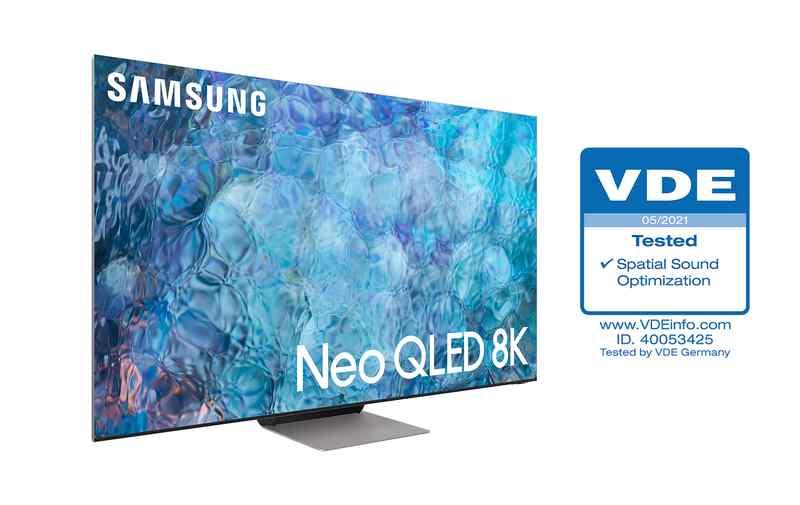 A Samsung 2021-es Neo QLED televíziói az elsők közt kapták meg az elismert minősítő intézet, a Német Elektrotechnikusok Szövetségének (VDE) Finomított Térhangzás tanúsítványát.